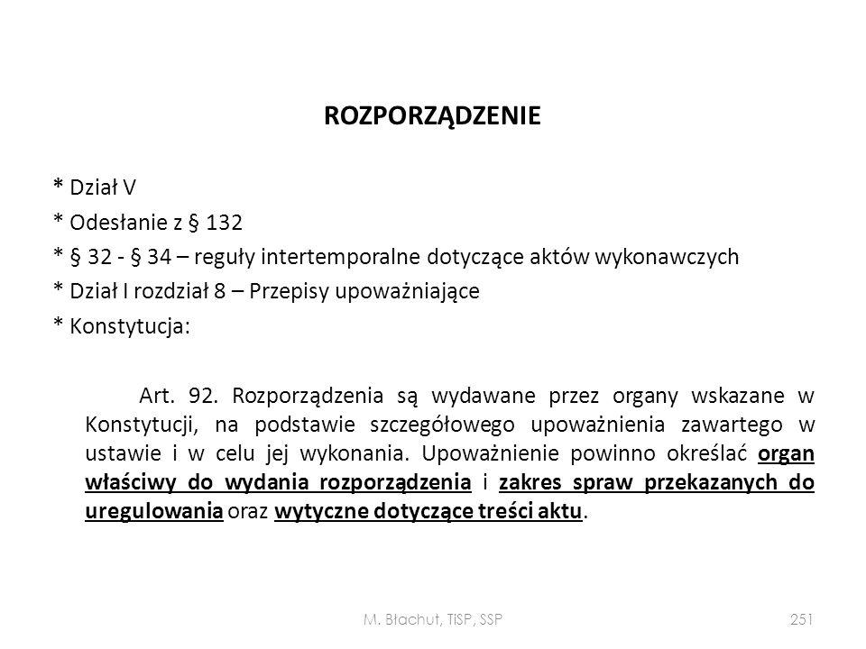 ROZPORZĄDZENIE * Dział V * Odesłanie z § 132