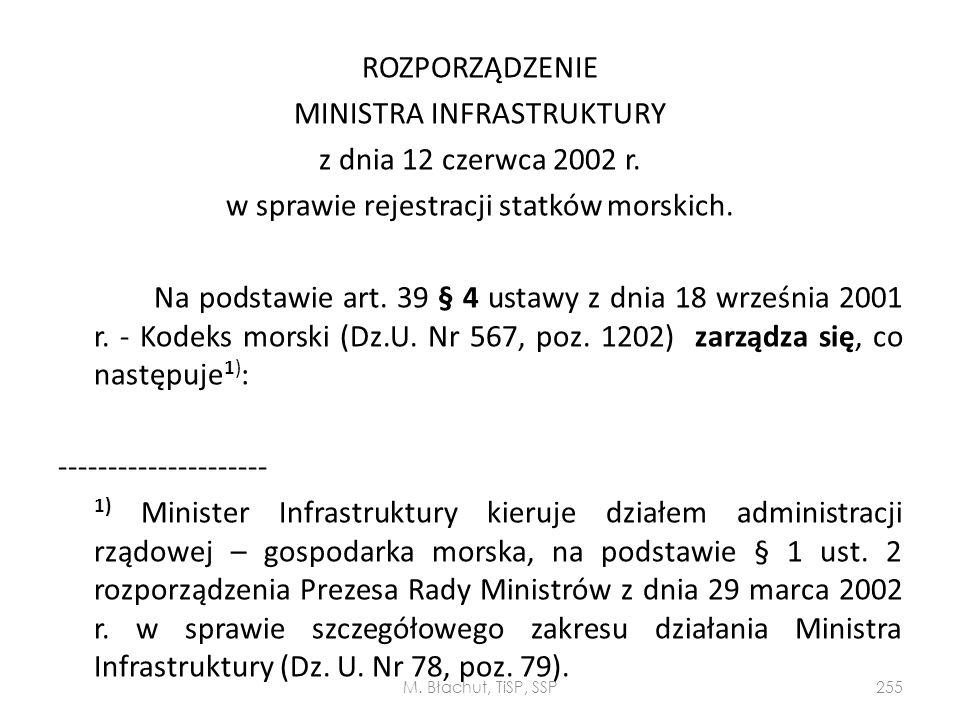 ROZPORZĄDZENIE MINISTRA INFRASTRUKTURY z dnia 12 czerwca 2002 r