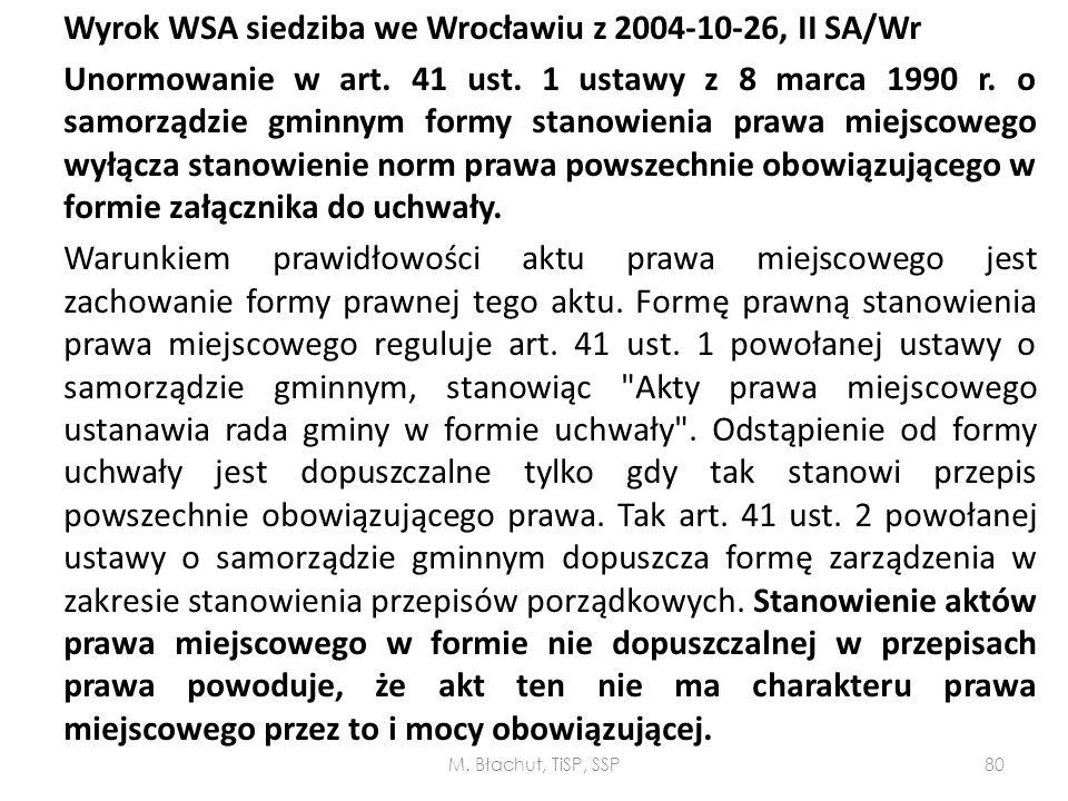 Wyrok WSA siedziba we Wrocławiu z 2004-10-26, II SA/Wr