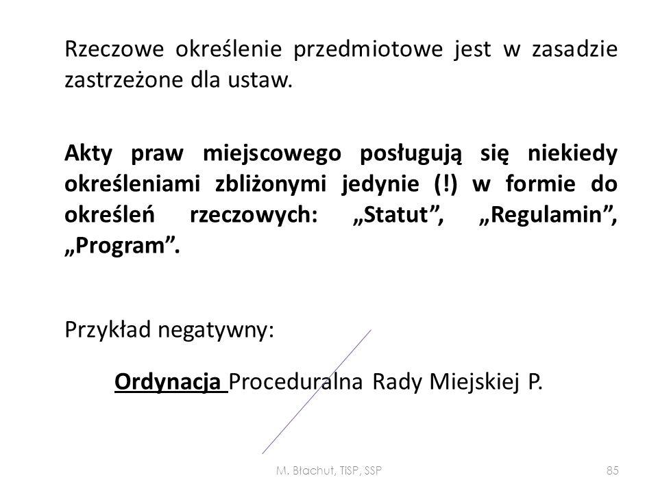 Ordynacja Proceduralna Rady Miejskiej P.