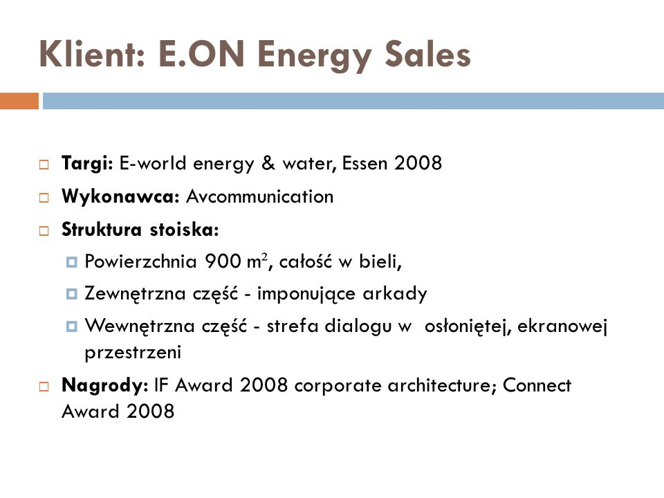 Klient: E.ON Energy Sales