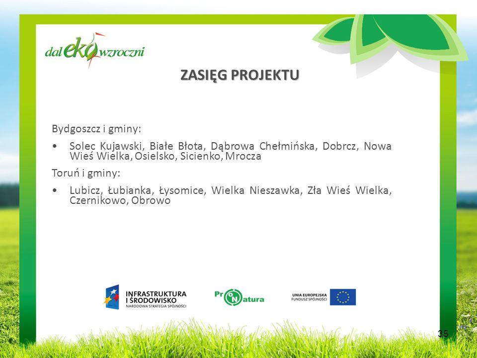 ZASIĘG PROJEKTU Bydgoszcz i gminy: