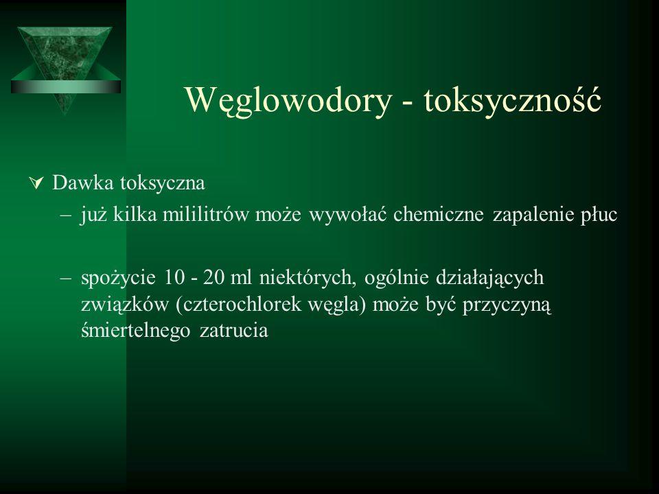 Węglowodory - toksyczność