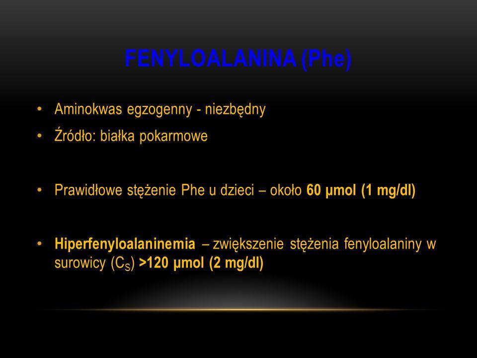 FENYLOALANINA (Phe) Aminokwas egzogenny - niezbędny