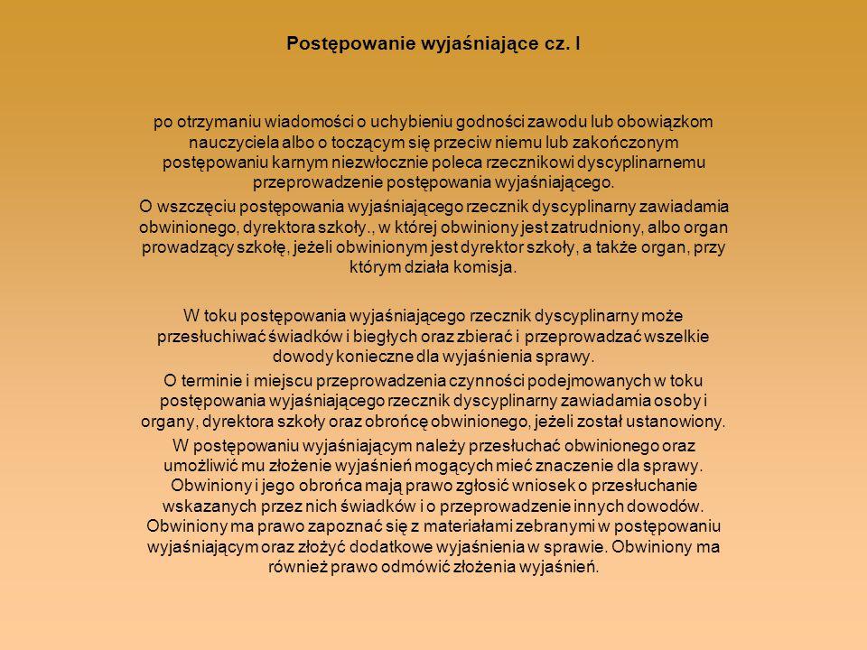 Postępowanie wyjaśniające cz. I