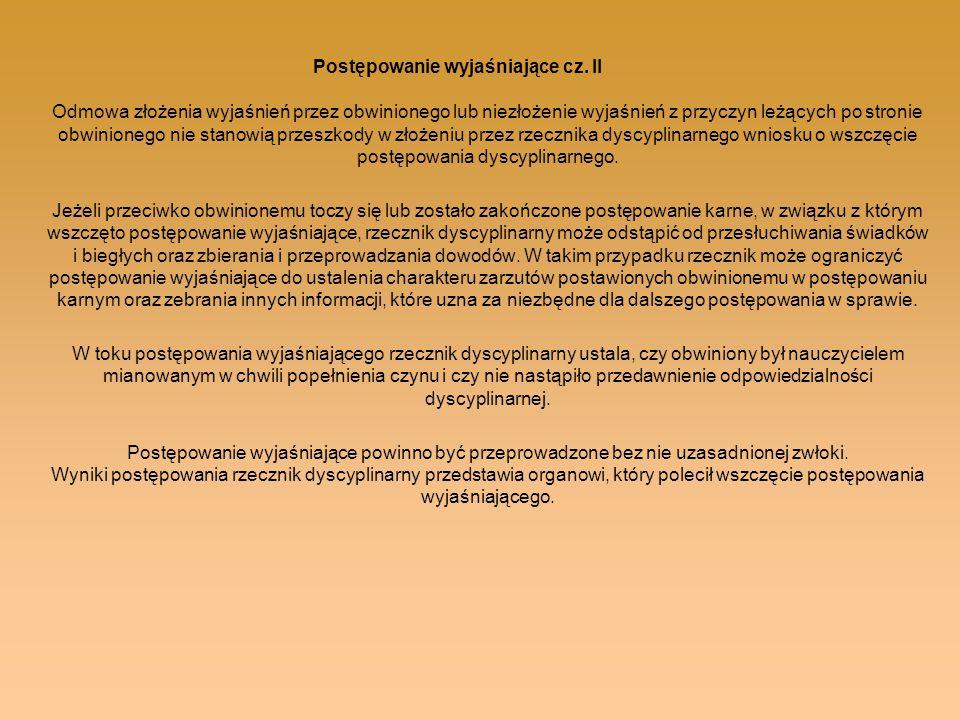 Postępowanie wyjaśniające cz. II