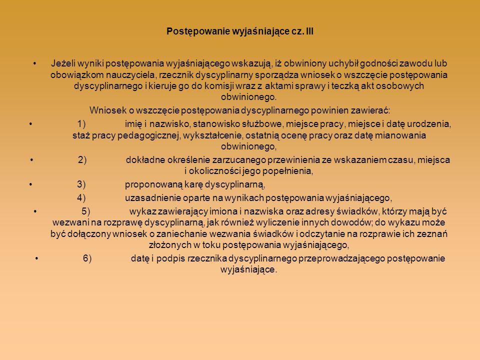 Postępowanie wyjaśniające cz. III