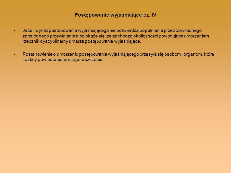 Postępowanie wyjaśniające cz. IV