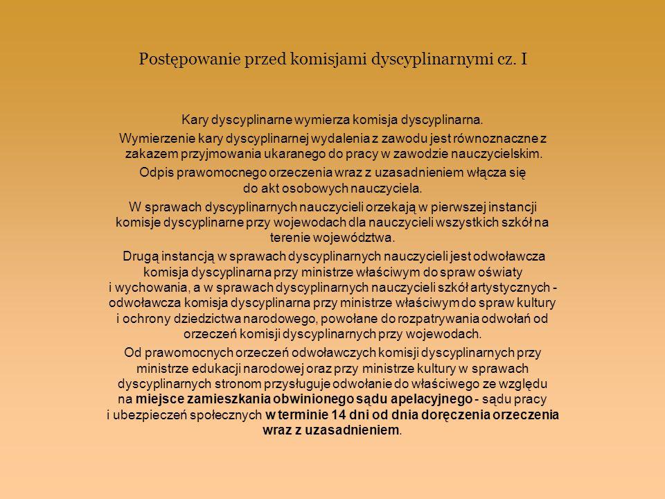 Postępowanie przed komisjami dyscyplinarnymi cz. I