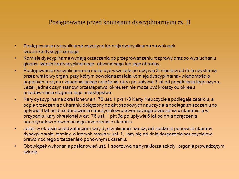 Postępowanie przed komisjami dyscyplinarnymi cz. II
