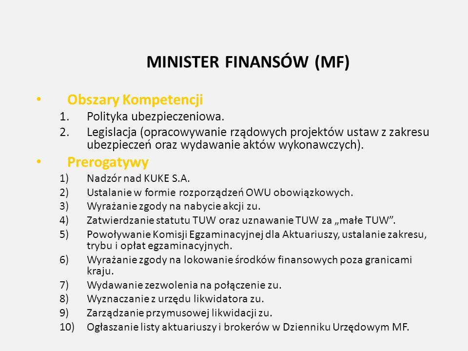MINISTER FINANSÓW (MF)