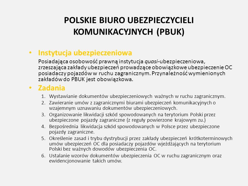 POLSKIE BIURO UBEZPIECZYCIELI KOMUNIKACYJNYCH (PBUK)