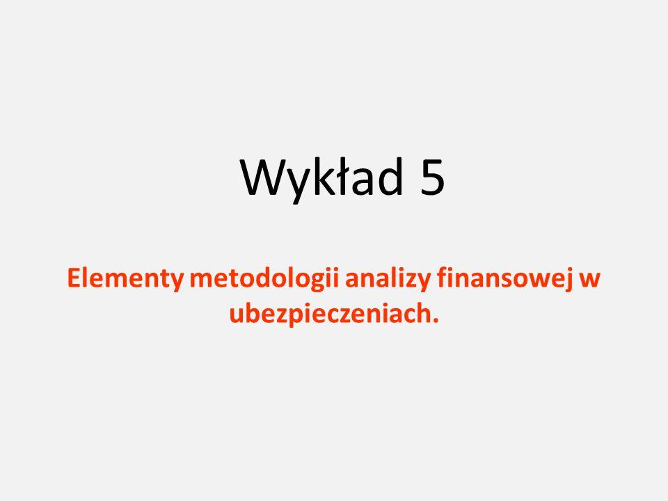 Elementy metodologii analizy finansowej w ubezpieczeniach.