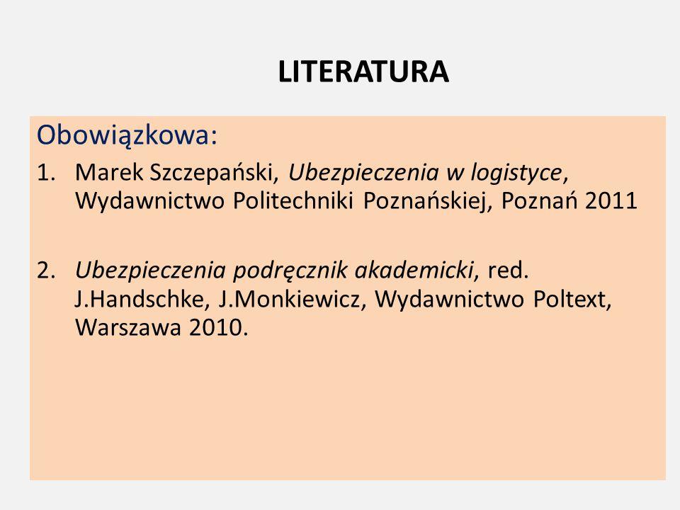 LITERATURA Obowiązkowa: