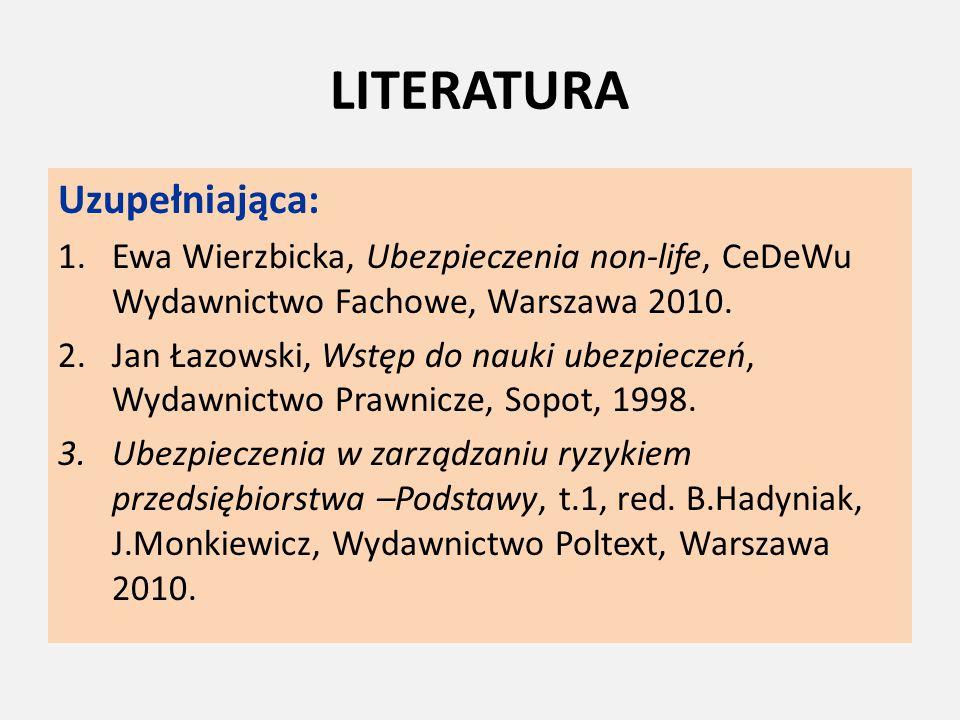 LITERATURA Uzupełniająca: