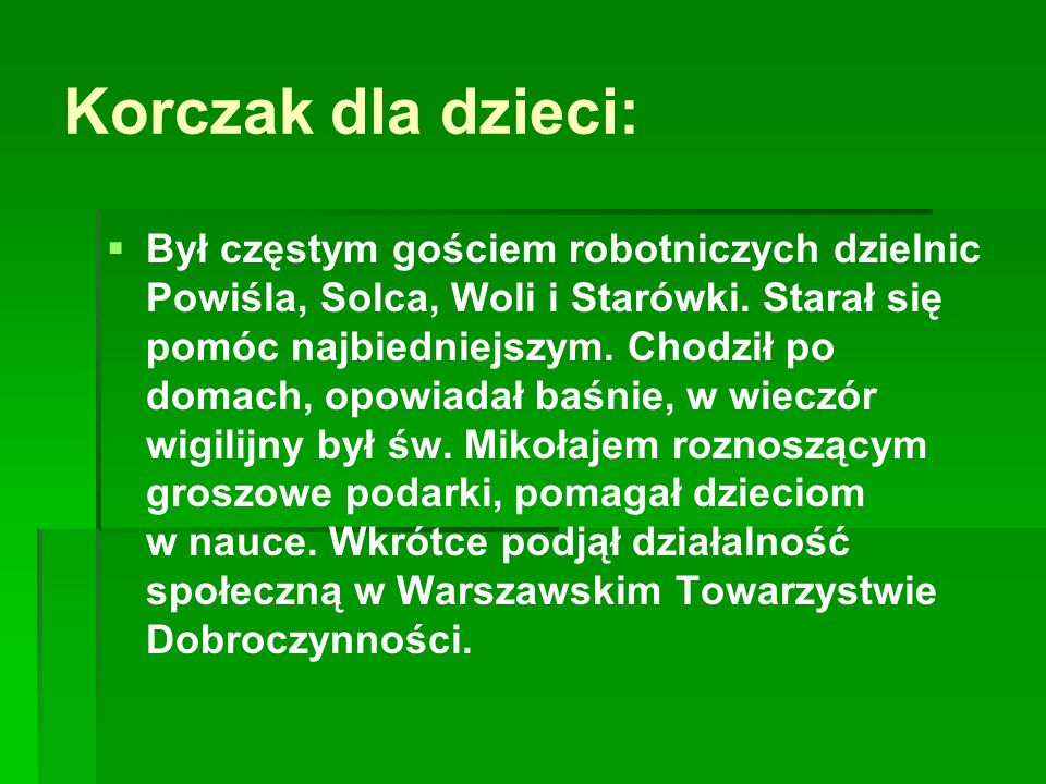 Korczak dla dzieci: