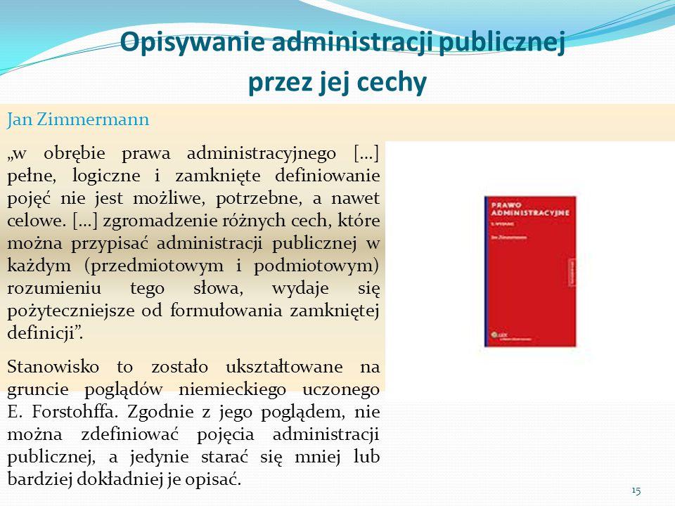Opisywanie administracji publicznej przez jej cechy