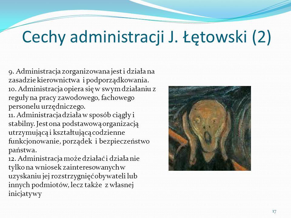 Cechy administracji J. Łętowski (2)