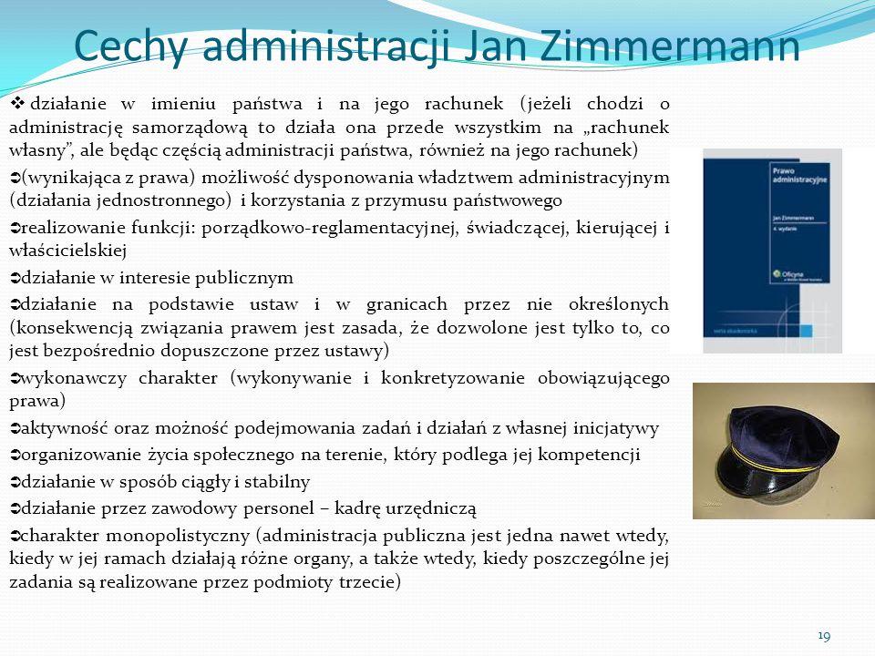 Cechy administracji Jan Zimmermann