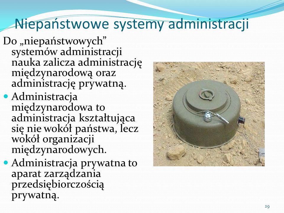 Niepaństwowe systemy administracji