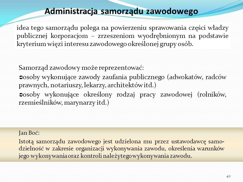 Administracja samorządu zawodowego