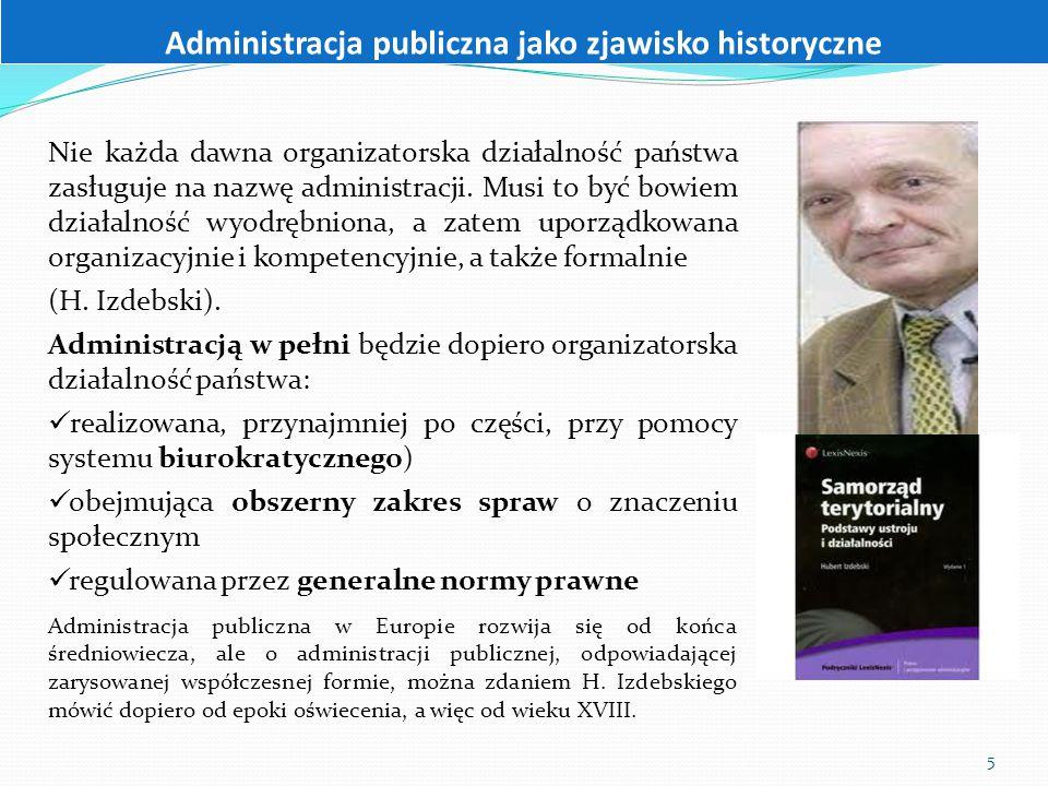 Administracja publiczna jako zjawisko historyczne