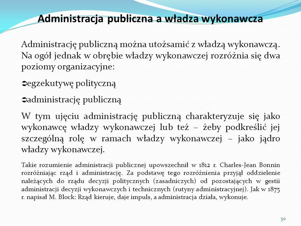 Administracja publiczna a władza wykonawcza