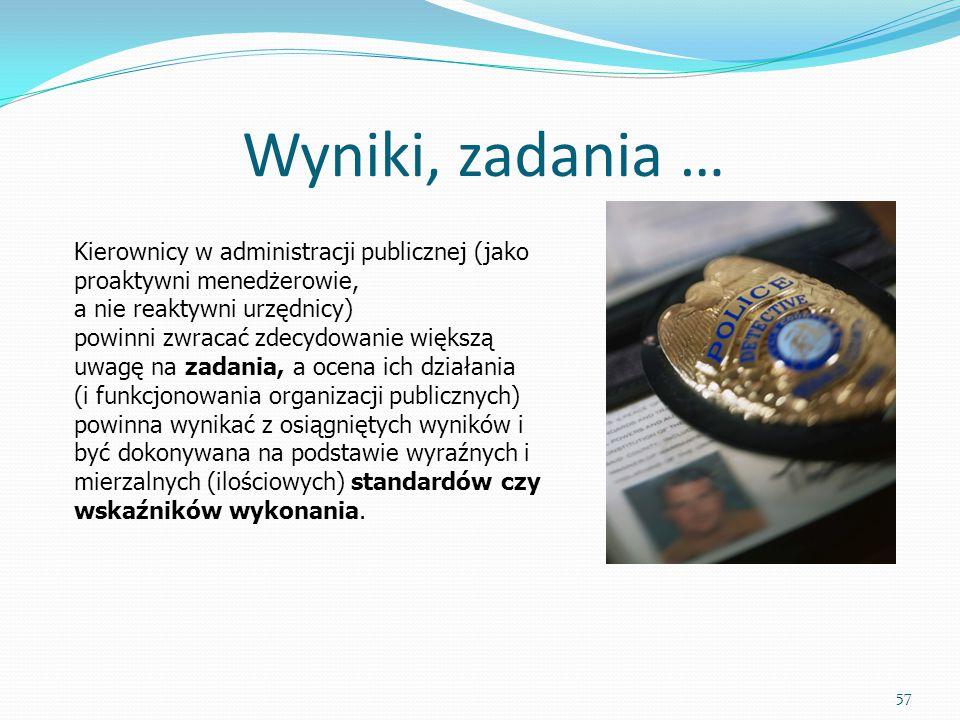 Wyniki, zadania … Kierownicy w administracji publicznej (jako proaktywni menedżerowie, a nie reaktywni urzędnicy)
