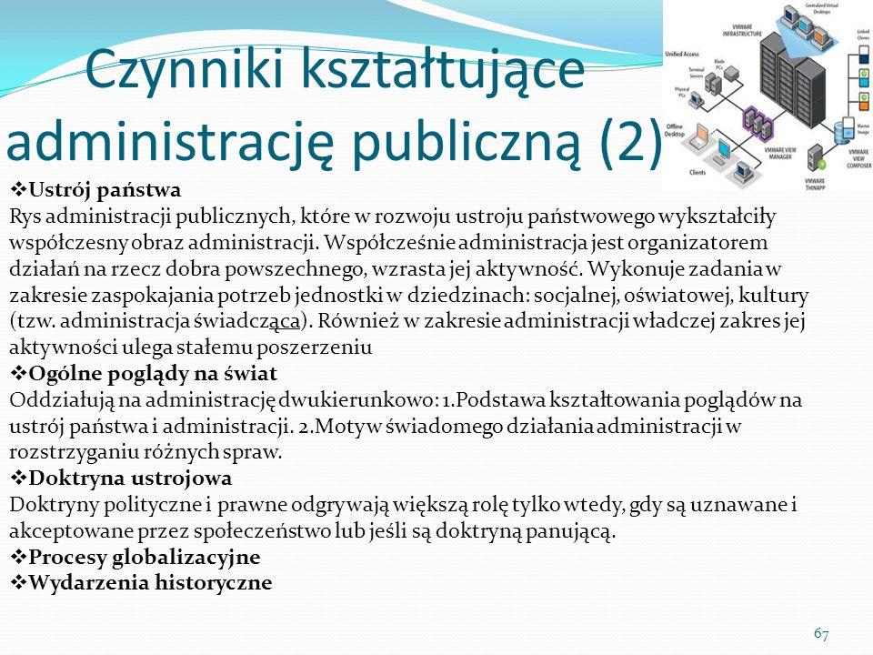 Czynniki kształtujące administrację publiczną (2)