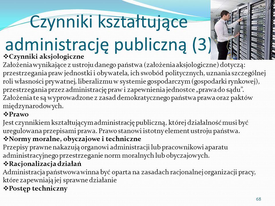 Czynniki kształtujące administrację publiczną (3)