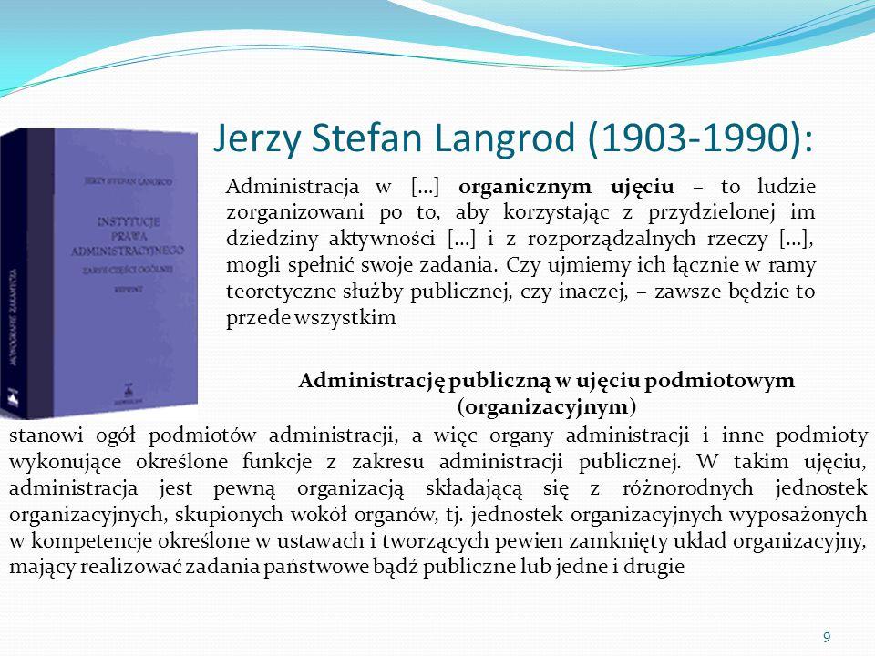 Jerzy Stefan Langrod (1903-1990):