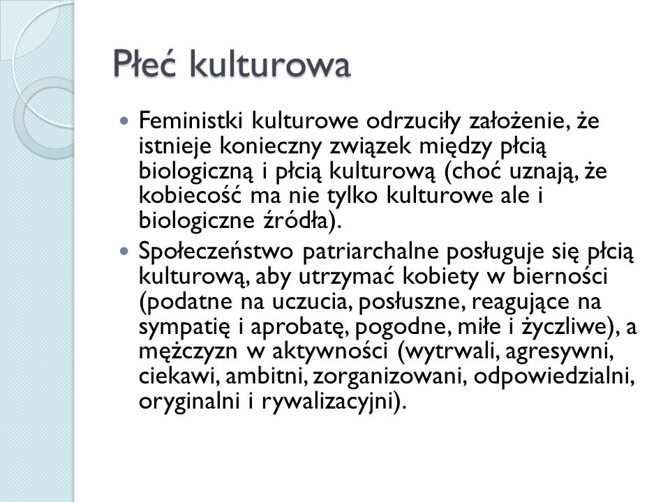 Płeć kulturowa