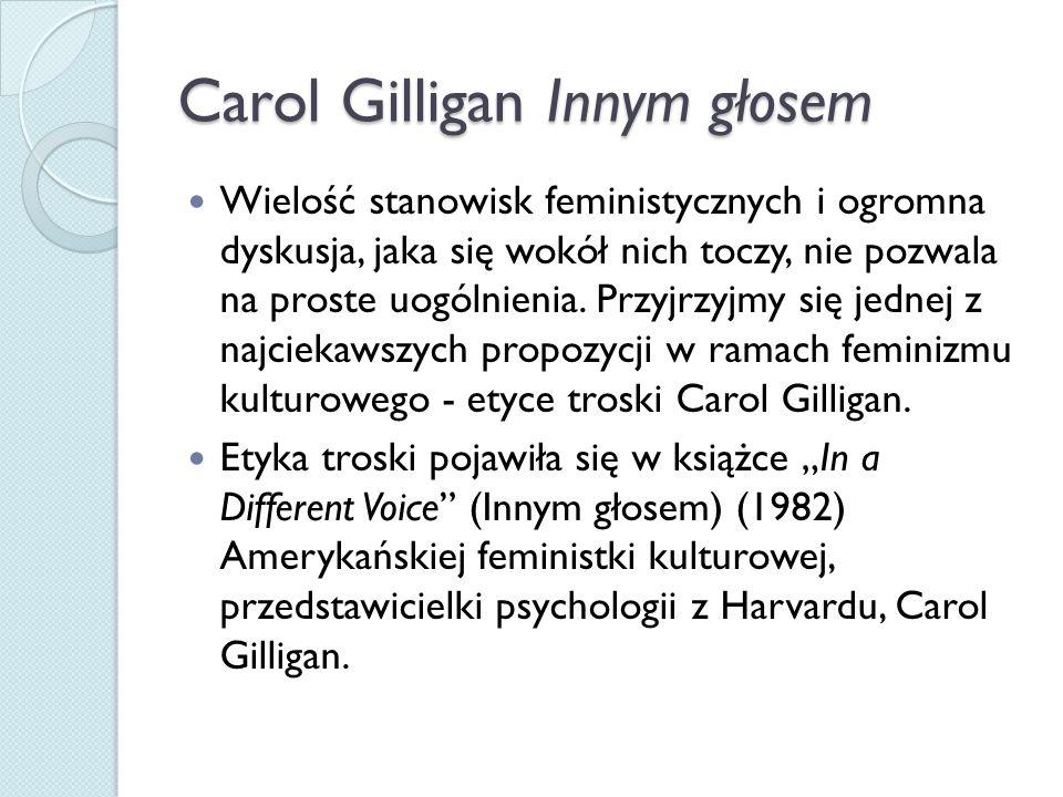 Carol Gilligan Innym głosem