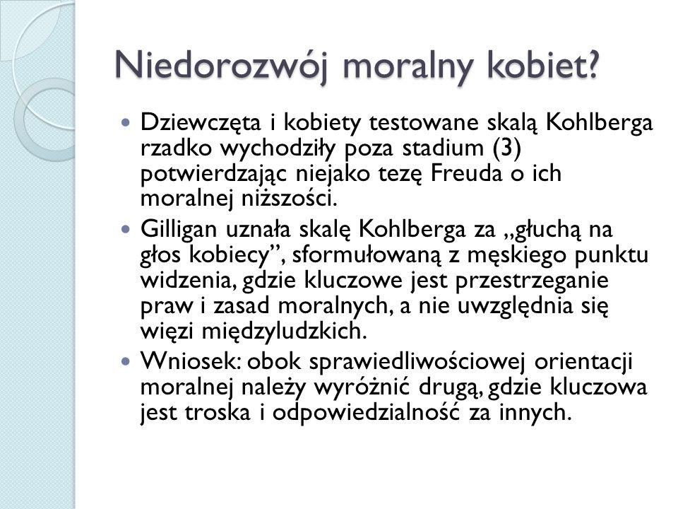 Niedorozwój moralny kobiet
