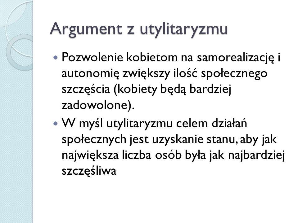 Argument z utylitaryzmu
