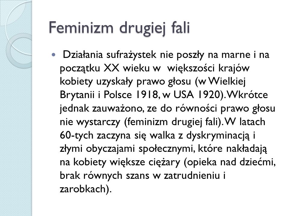 Feminizm drugiej fali