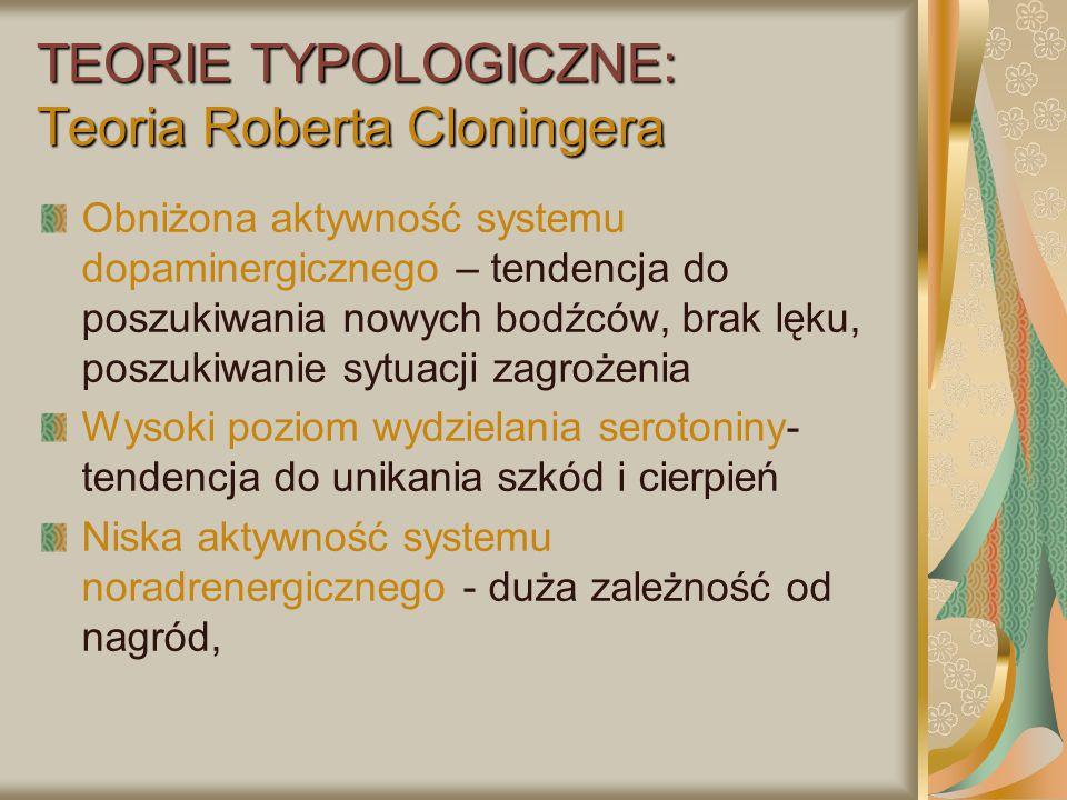 TEORIE TYPOLOGICZNE: Teoria Roberta Cloningera