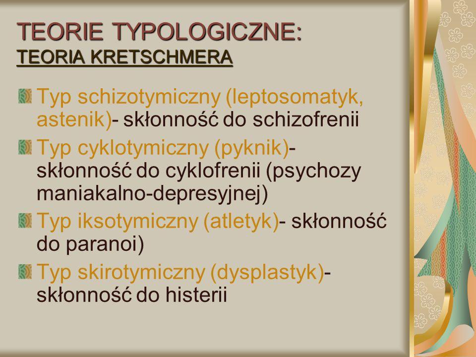 TEORIE TYPOLOGICZNE: TEORIA KRETSCHMERA