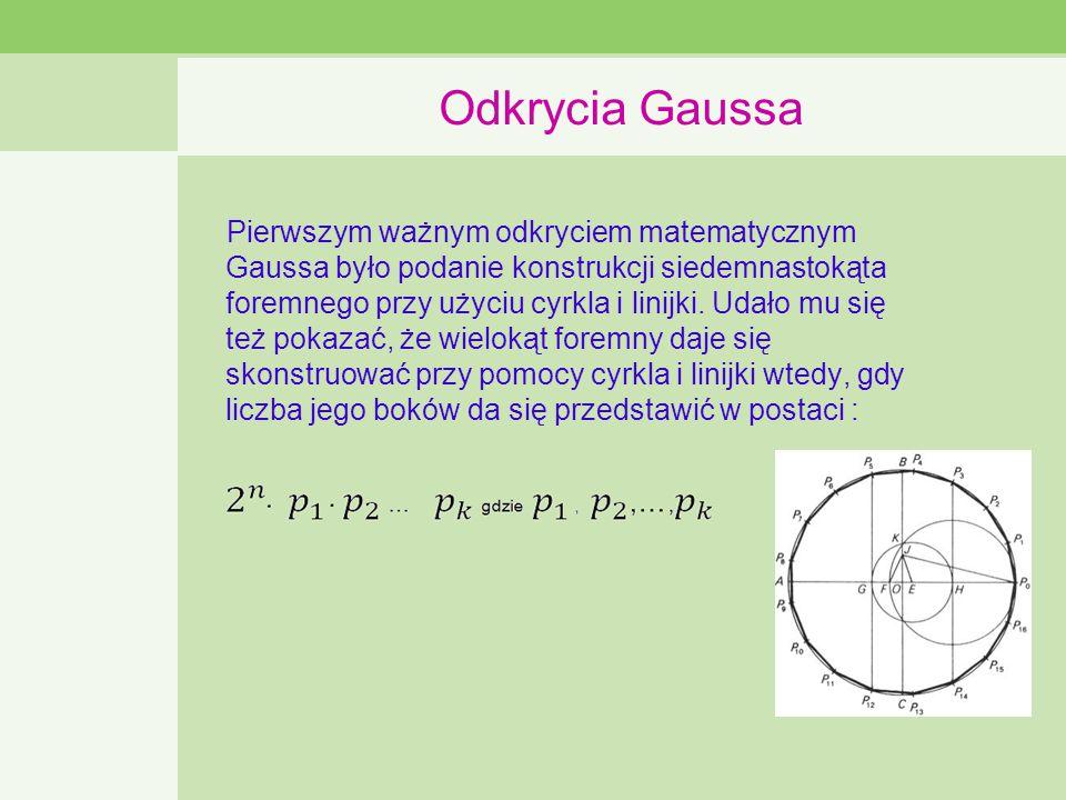 Odkrycia Gaussa