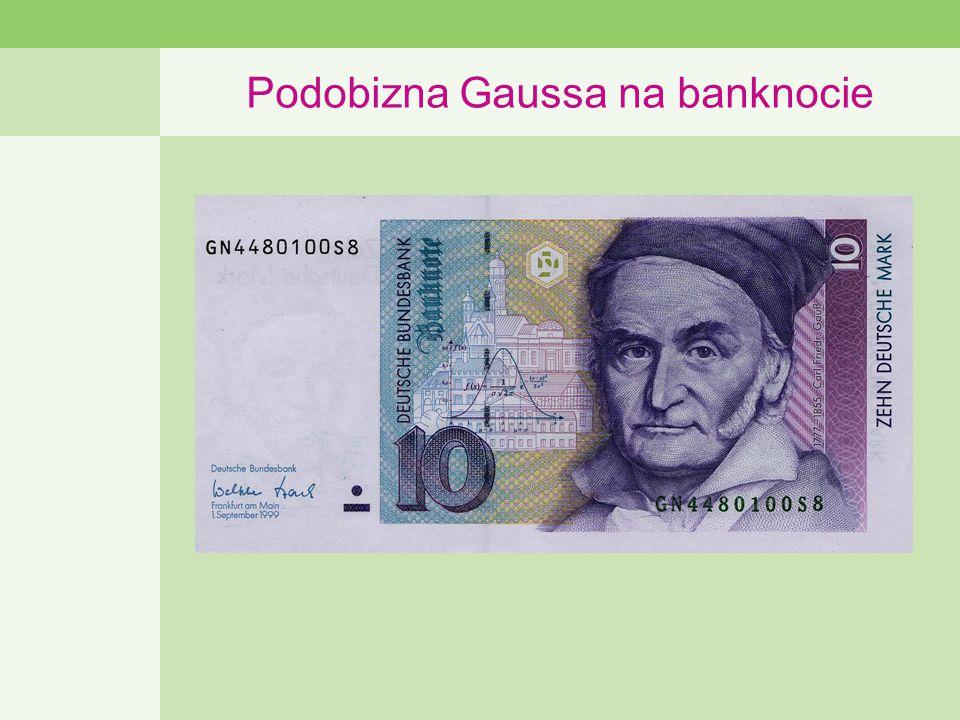 Podobizna Gaussa na banknocie