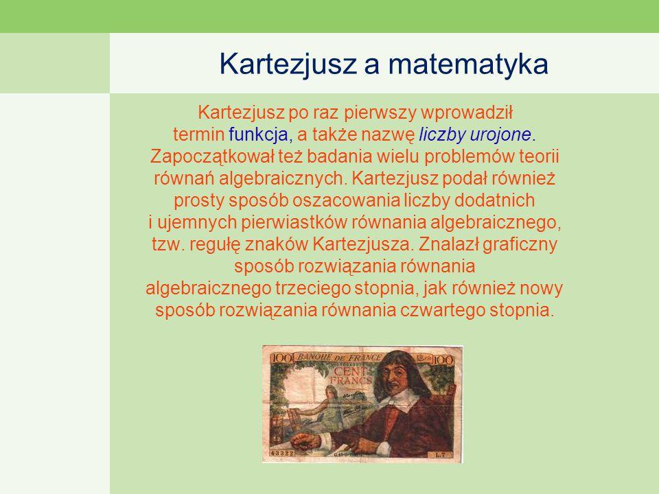 Kartezjusz a matematyka