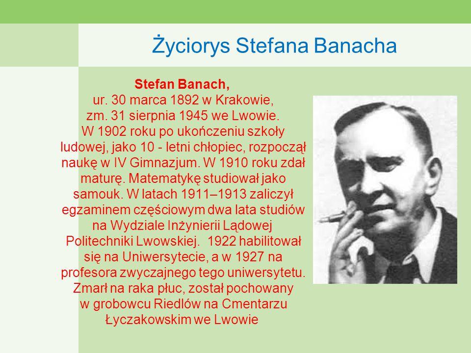 Życiorys Stefana Banacha