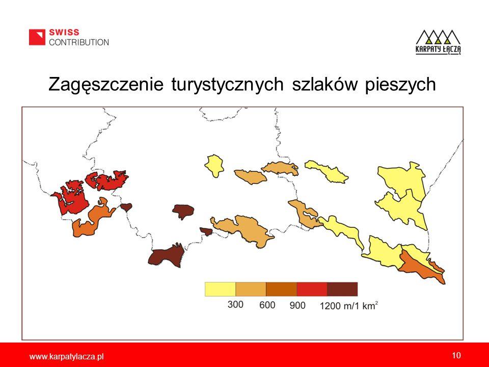 Gęstość zaludnienia w gminach