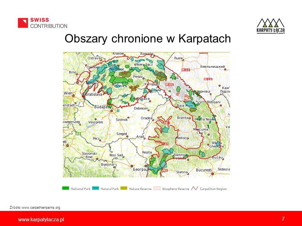 Obszary chronione w polskich Karpatach
