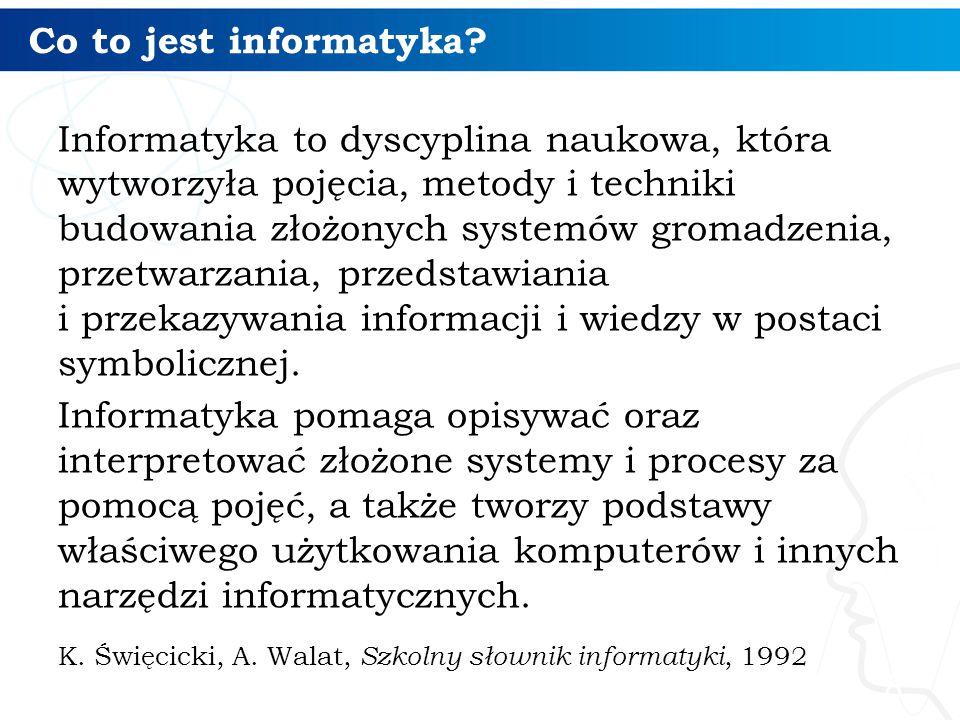 Co to jest informatyka