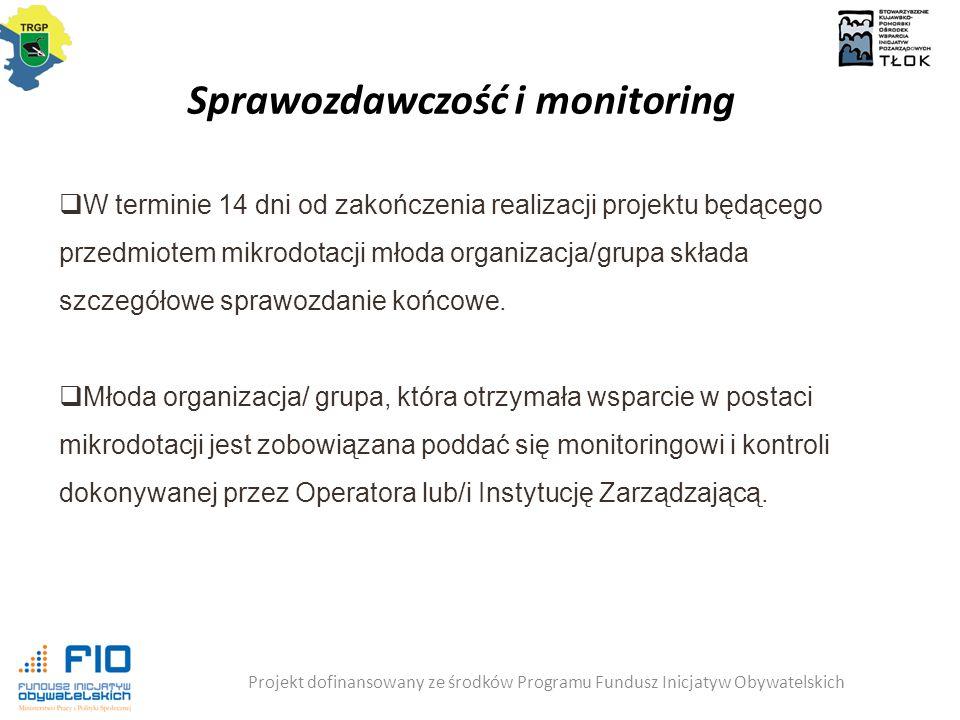 Sprawozdawczość i monitoring