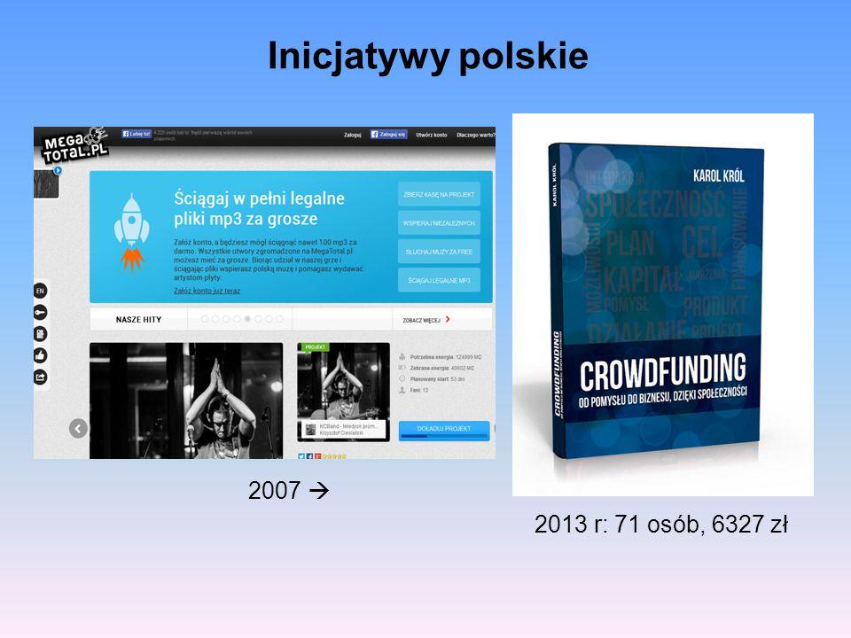 Inicjatywy polskie 2007  2013 r: 71 osób, 6327 zł