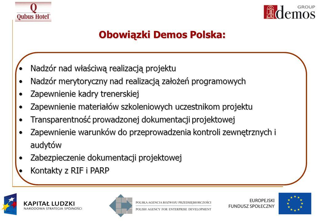 Obowiązki Demos Polska: