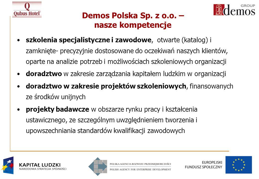 Demos Polska Sp. z o.o. – nasze kompetencje