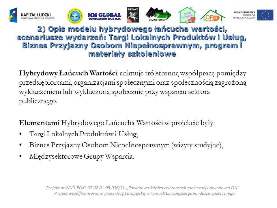Elementami Hybrydowego Łańcucha Wartości w projekcie były: